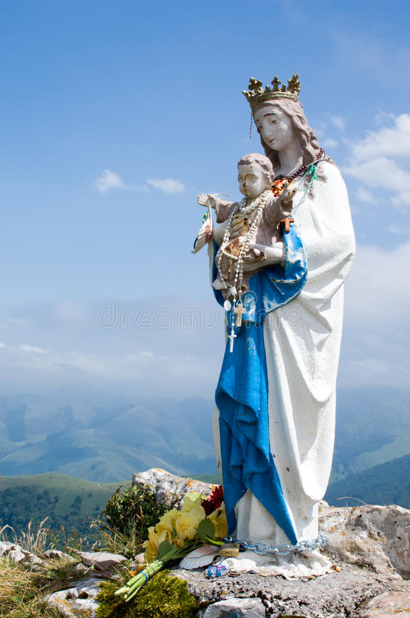 Download Virgin Mary stock image. Image of pray, christian, mountain - 21326795