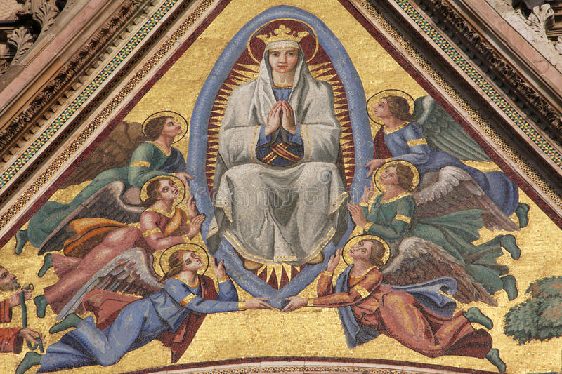 Download Virgin Mary stock image. Image of angel, blessed, decoration - 22150645