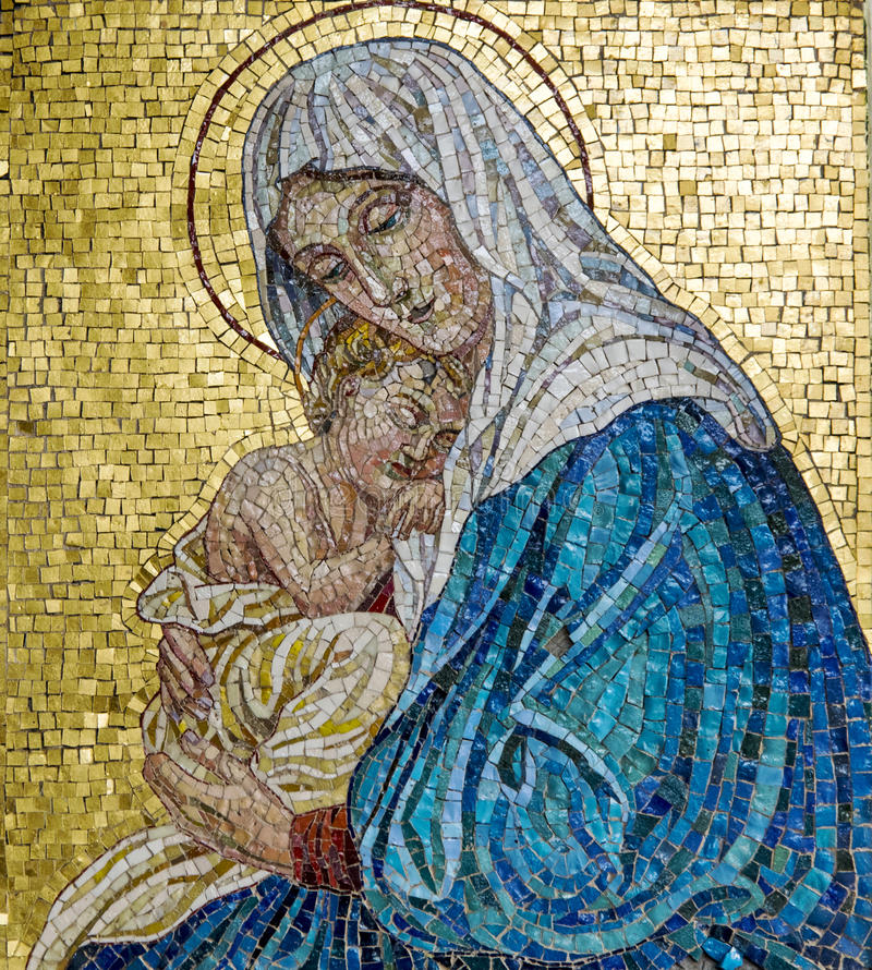 Free Virgin Mary And Jesus Stock Photo - 83505860