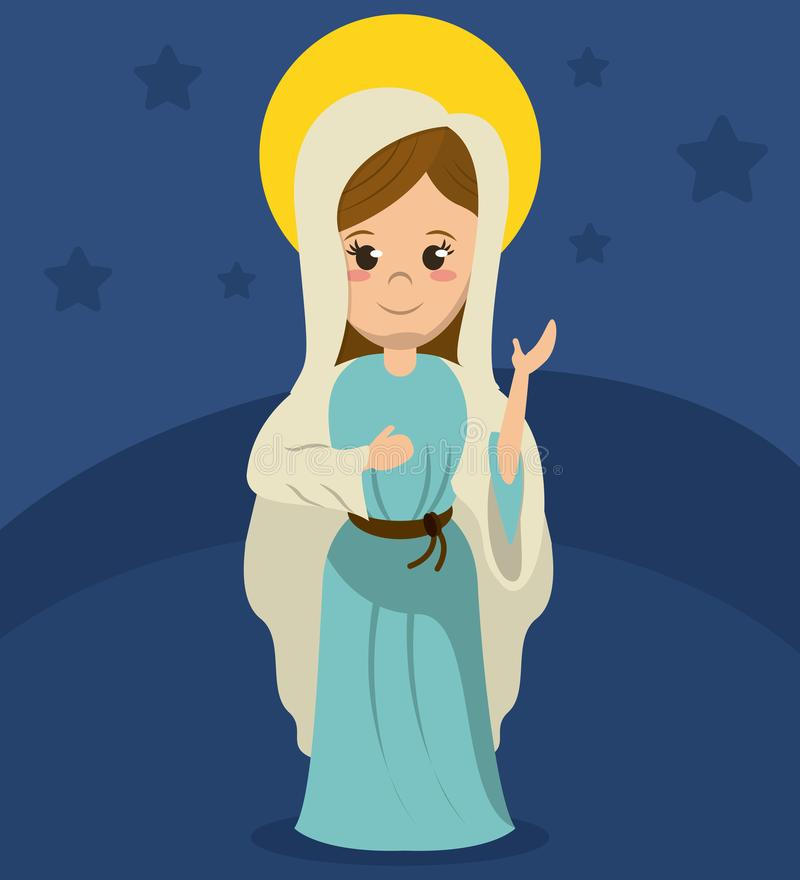 Virgin mary catholicism spirit image. Vector illustration vector illustration