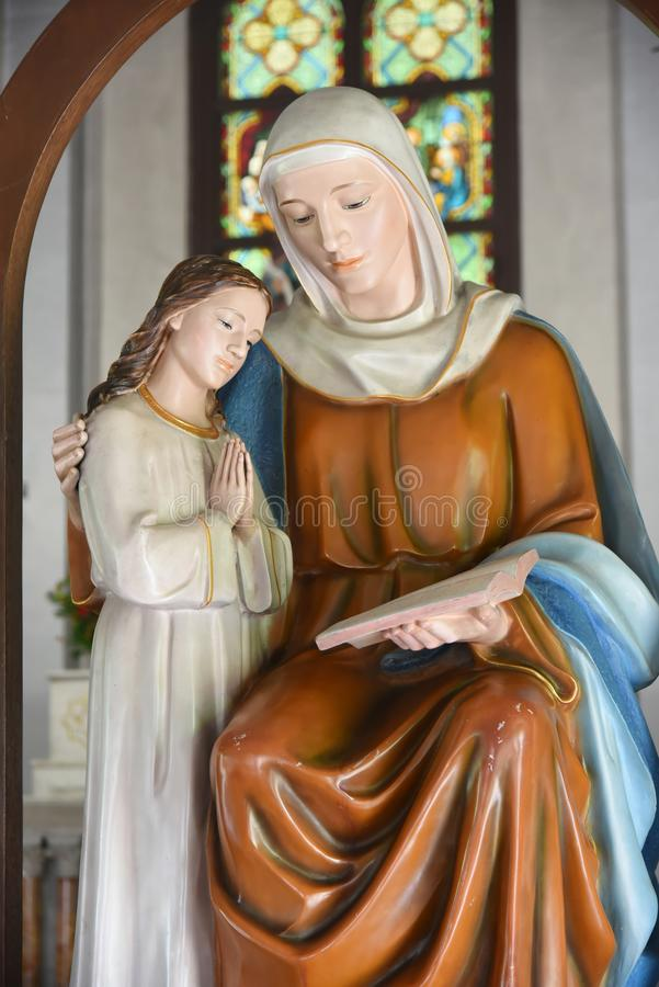 Virgin Mary and Jesus. Virgin Mary and child Jesus royalty free stock photos