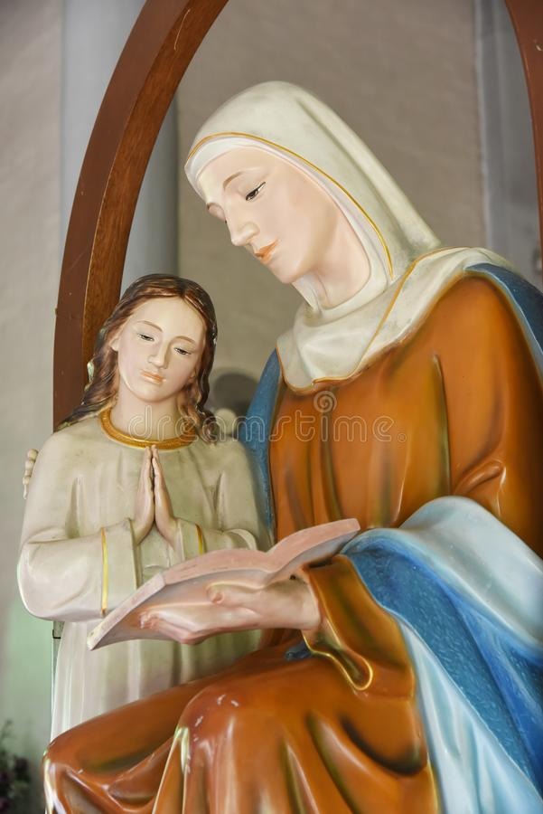 Virgin Mary and Jesus. Virgin Mary and child Jesus stock photography