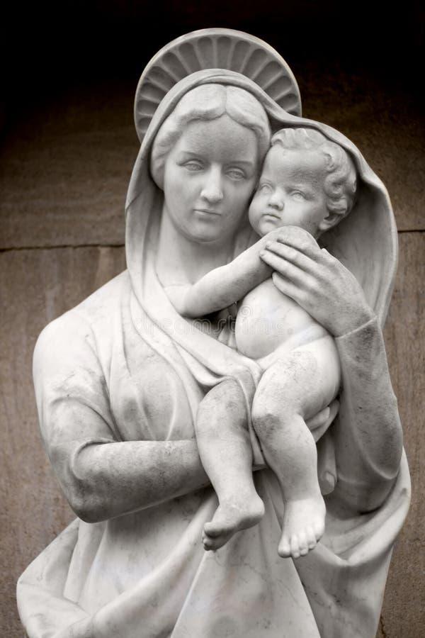 Virgin Mary com bebê Jesus fotos de stock royalty free
