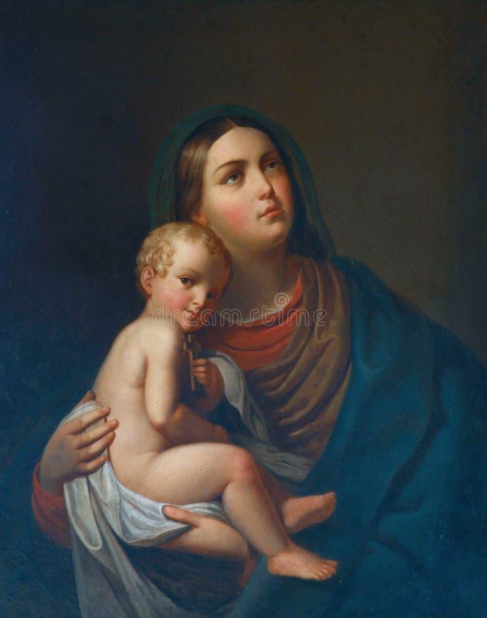 Virgin Mary com bebê Jesus imagens de stock royalty free