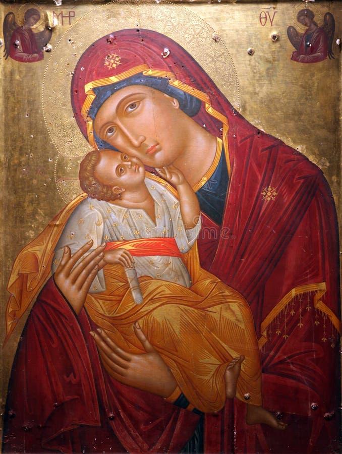 Virgin Mary com bebê Jesus foto de stock royalty free