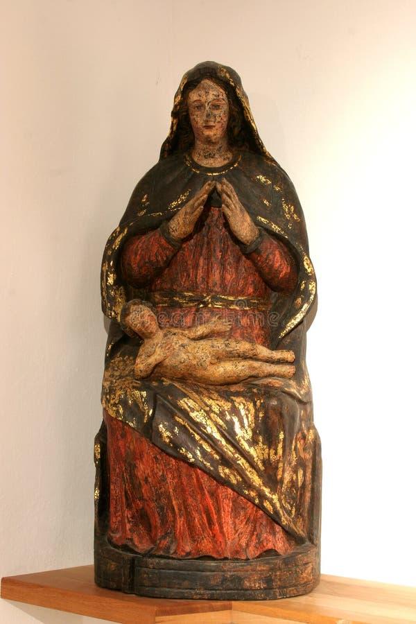 Virgin Mary com bebê Jesus imagem de stock