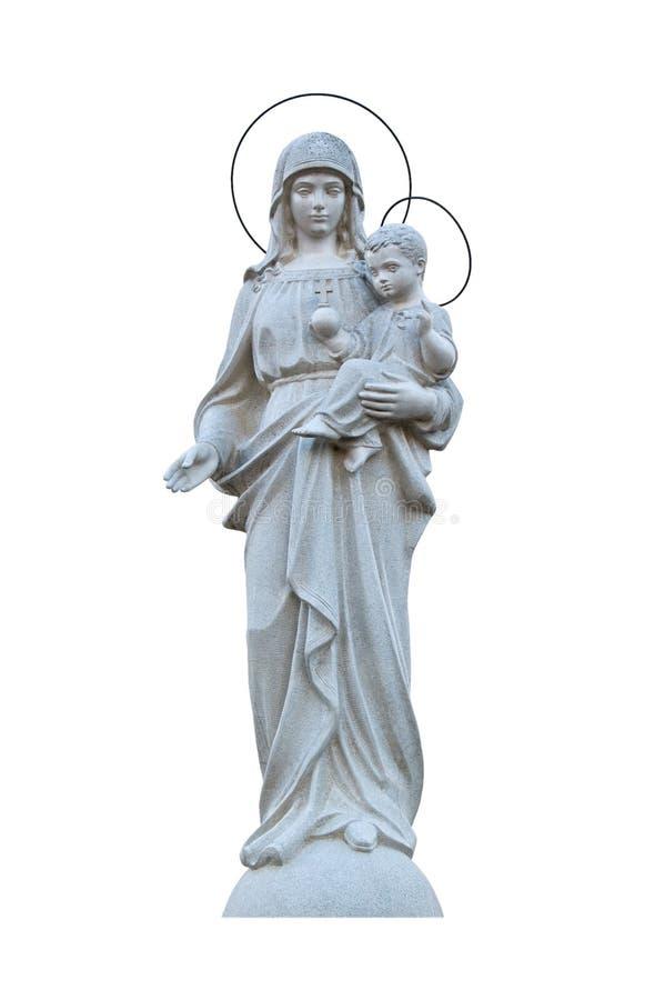 Virgin Mary com Jesus imagens de stock