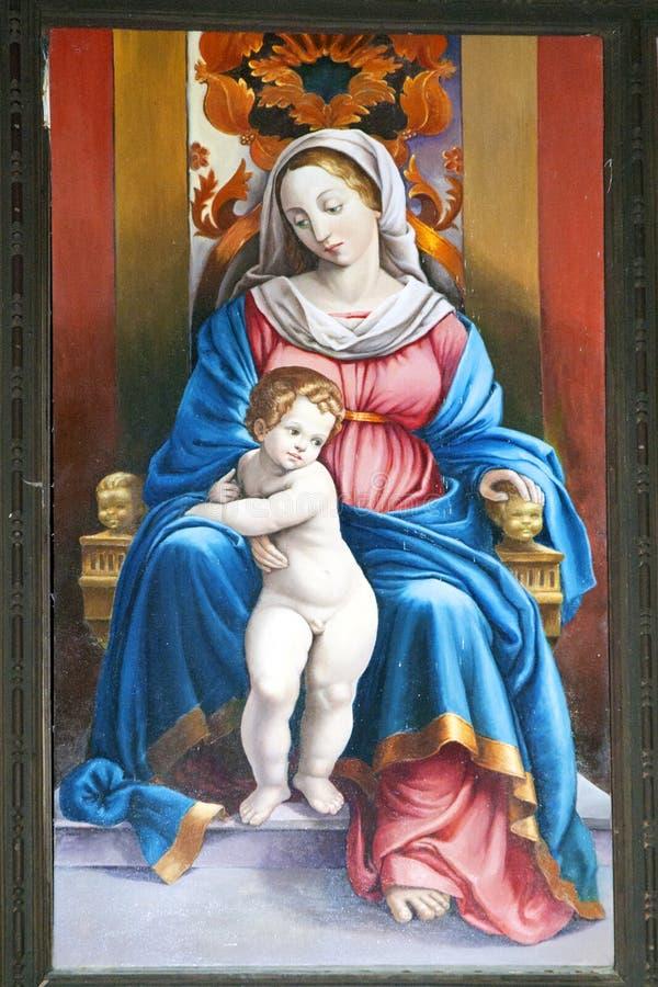 Virgin Mary con il bambino Jesus fotografie stock