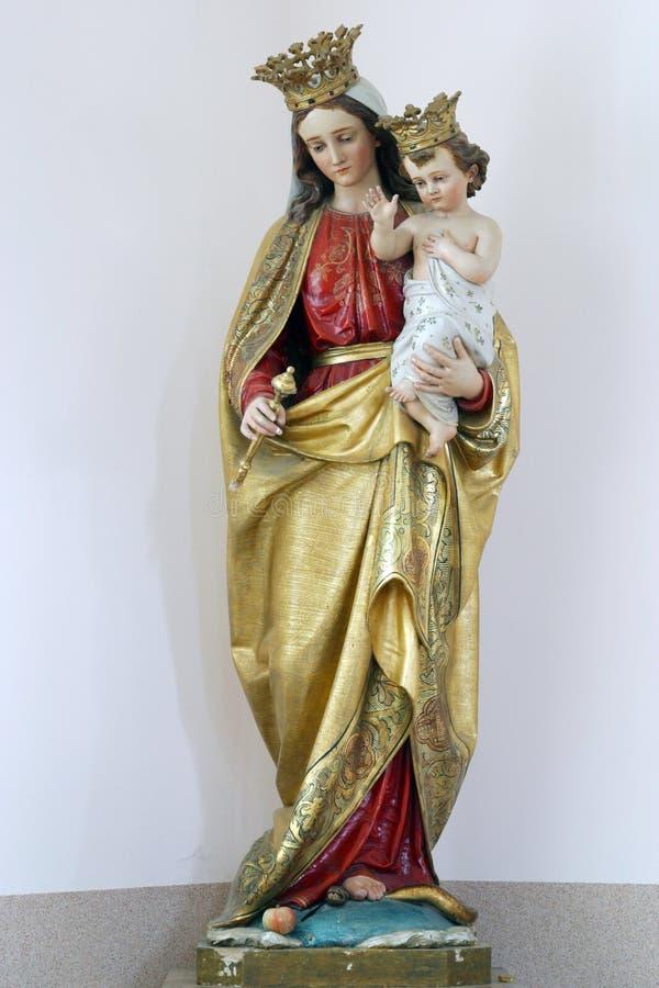 Virgin Mary con il bambino Jesus immagine stock
