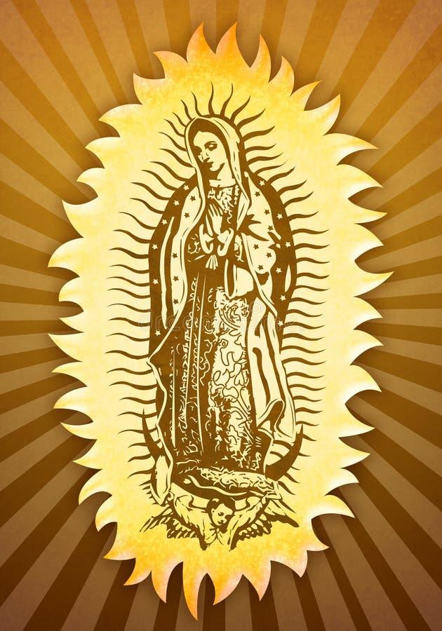 Virgin mary de Guadalupe ilustração do vetor
