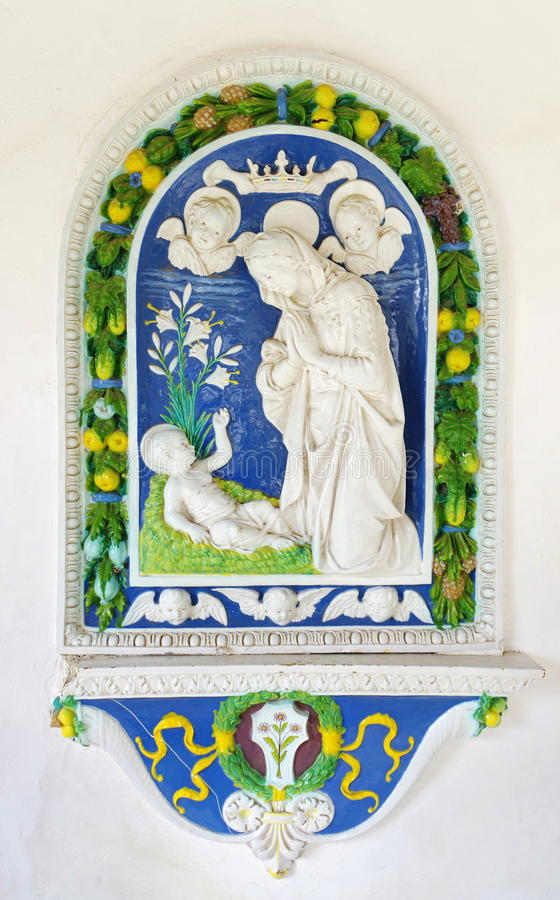 Virgin Mary e bambino fotografia stock libera da diritti