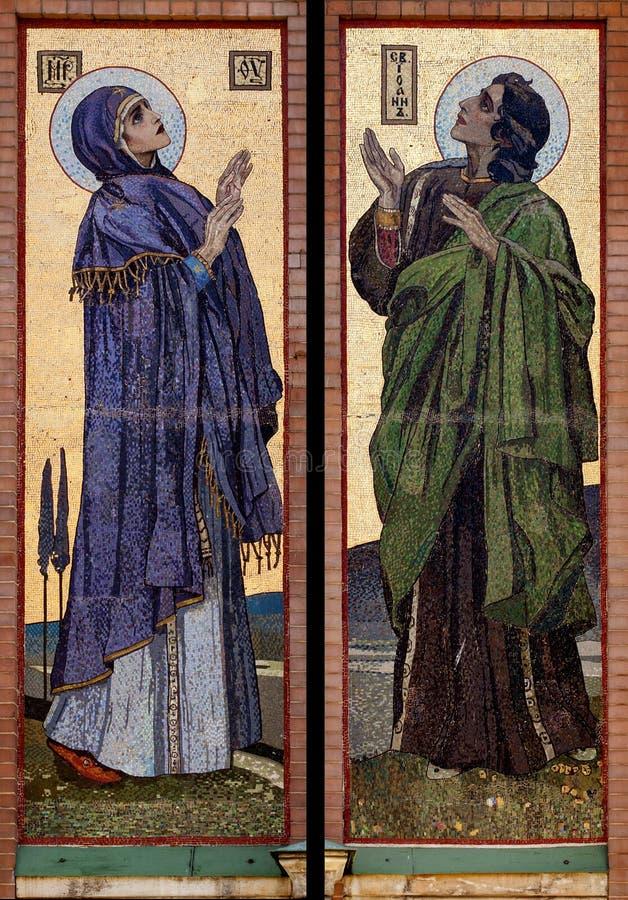 Virgin Mary e baptista de John imagens de stock