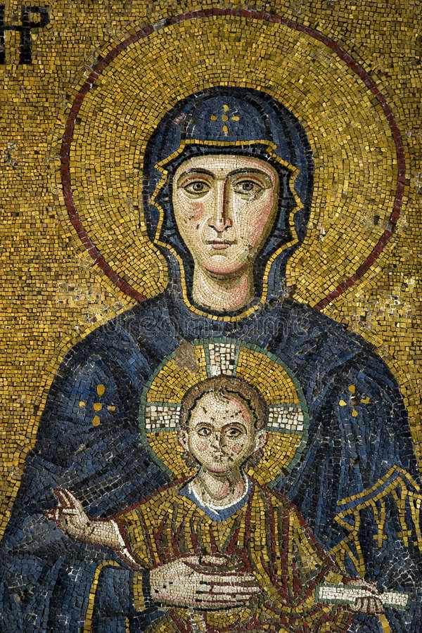 Virgin Mary e a criança foto de stock royalty free