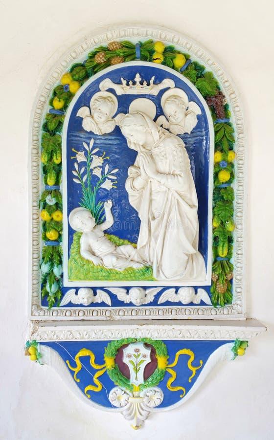Virgin Mary e criança fotografia de stock royalty free