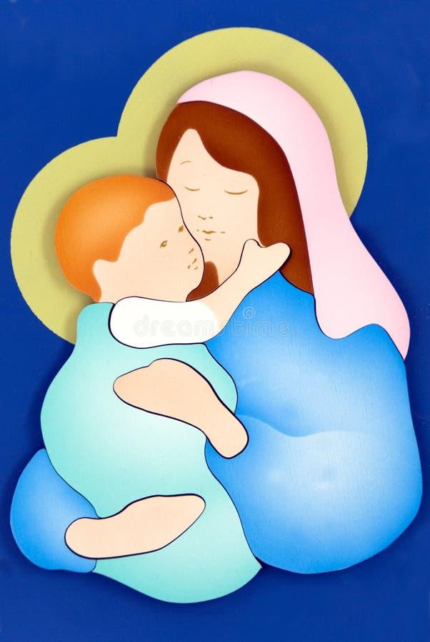 Virgin Mary e criança ilustração royalty free