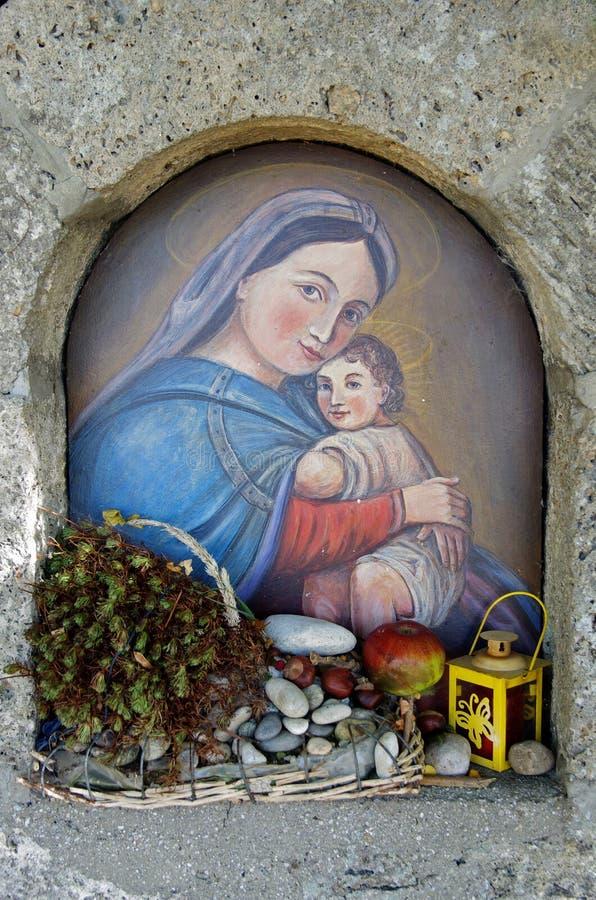 Virgin Mary e Jesus fotos de stock