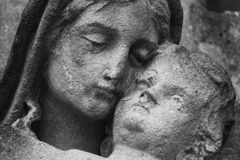 Virgin Mary e Jesus Cristo foto de stock