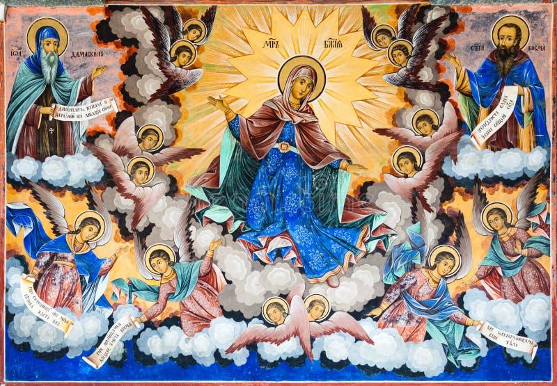Virgin Mary Fresco stock photo