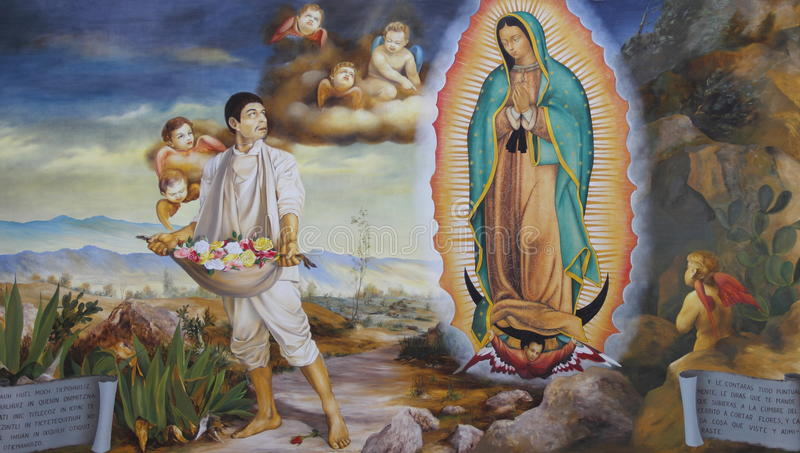 Virgin Mary Guadalupe I. Painting of Virgin Mary Guadalupe, mexico