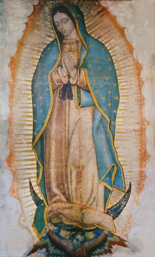 Virgin Mary Guadalupe. Shrine of the Guadalupe, Mexico City