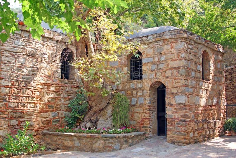 Virgin mary house for their last days. Virgin mary house near ephesus where she lived last days stock image
