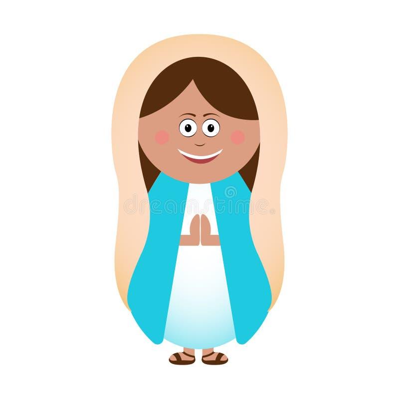 Virgin Mary icon stock illustration