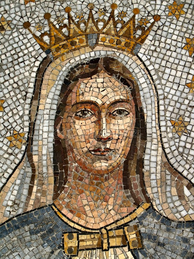 Virgin Mary Mosaic stock image