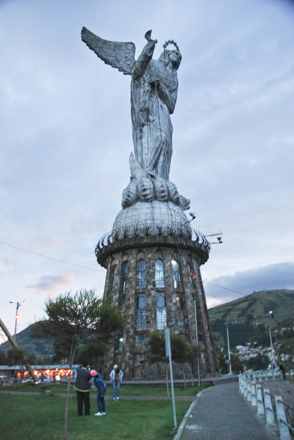 The Virgin Mary of Quito statue, Ecuador stock images