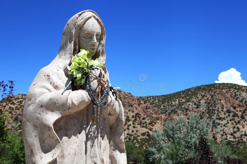 Virgin Mary Santuario de Chimayo, Νέο Μεξικό στοκ εικόνα με δικαίωμα ελεύθερης χρήσης