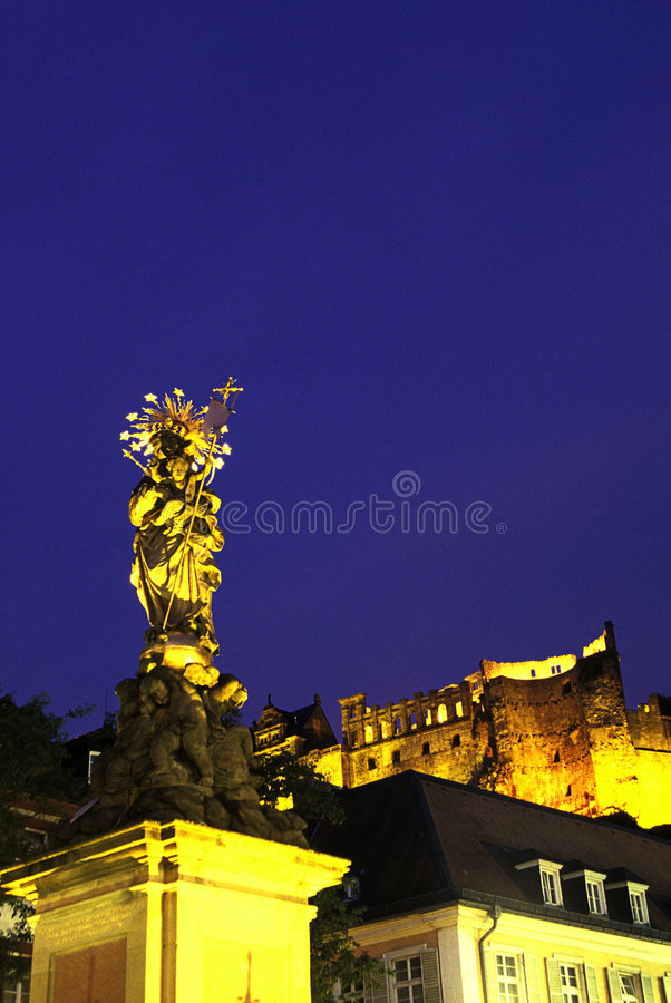 Virgin Mary statue-Heidelberg, Germ stock photography