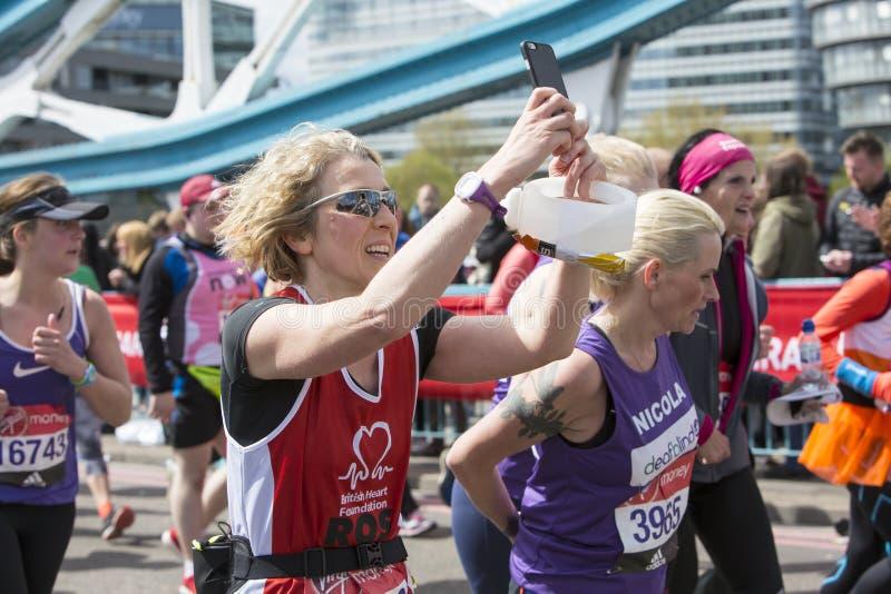 Virgin Money London Marathon. 24th April 2016. royalty free stock images