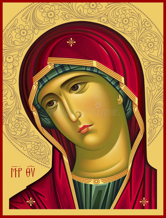 Download Virgin Oplechnaya_red4 Raster Picture Stock Illustration - Illustration: 33814583