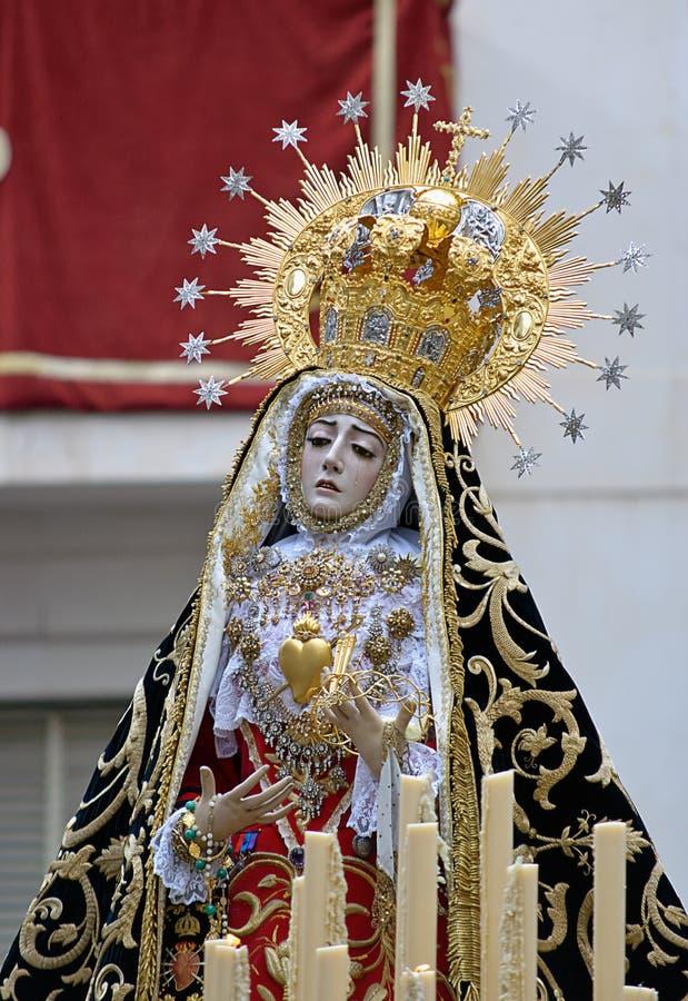 Virgin of pains