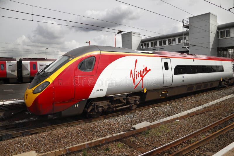 Virgin Train stock image