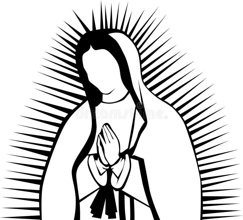Virgin van Guadalupe stock illustratie