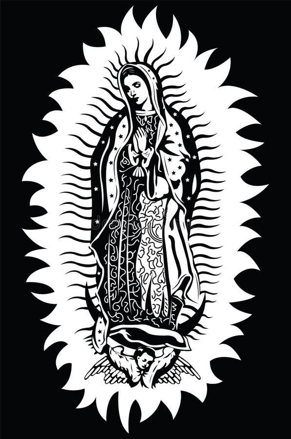 Virgin van Guadalupe - vector royalty-vrije illustratie