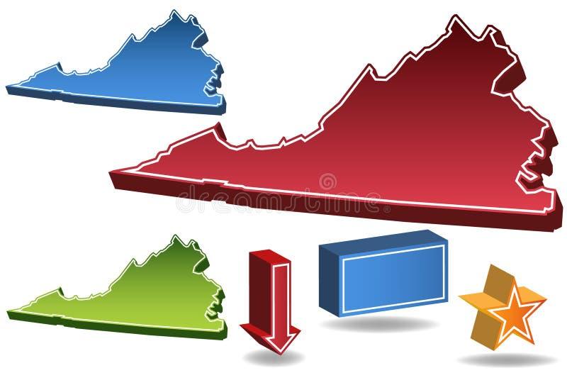 Virginia 3D stock de ilustración