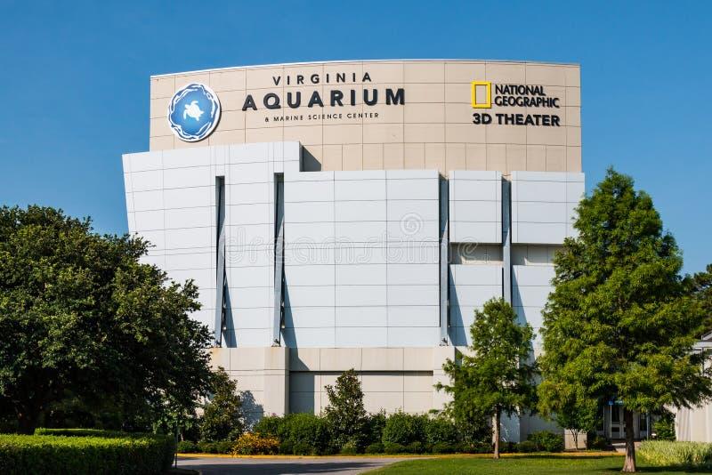 Virginia Aquarium e teatro de IMAX em Virginia Beach, Virgínia fotos de stock