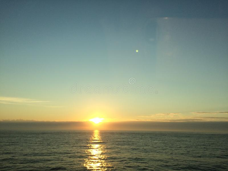 Virginia Beach на восходе солнца стоковая фотография rf