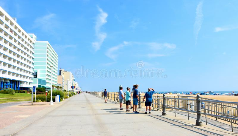 Virginia Beach Boardwalk Virginia, USA arkivbilder