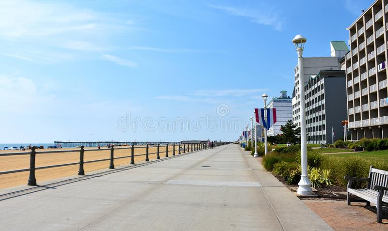 Virginia Beach Boardwalk Virginia, USA arkivfoton