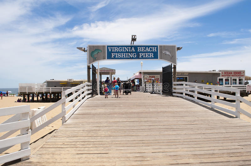 Virginia Beach Fishing Pier royaltyfri foto