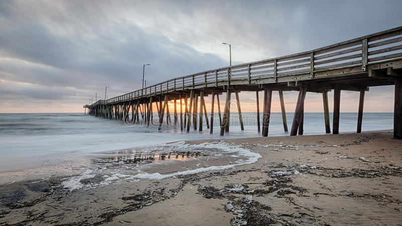 Virginia Beach Fishing Pier photographie stock