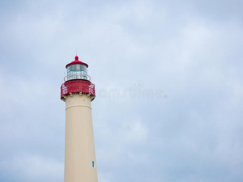 Cape May Lighthouse, New Jersey, USA.  stock photo