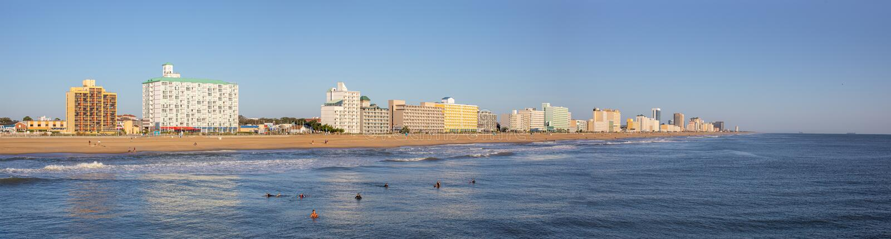 Virginia Beach Skyline royaltyfri foto