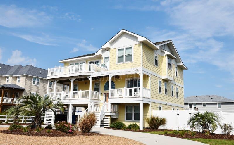 Virginia brzeg graniczący z oceanem plażowy wschodni dom fotografia royalty free