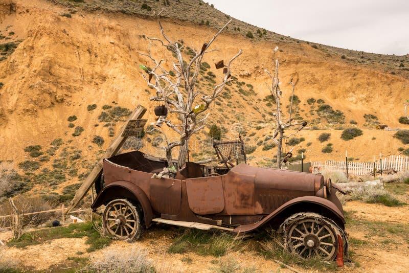 Virginia City au Nevada était centre de précipitation d'or et d'argent images libres de droits
