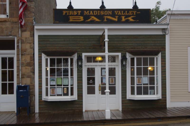 Virginia City, Bankgebäude Montanas, lizenzfreie stockfotografie