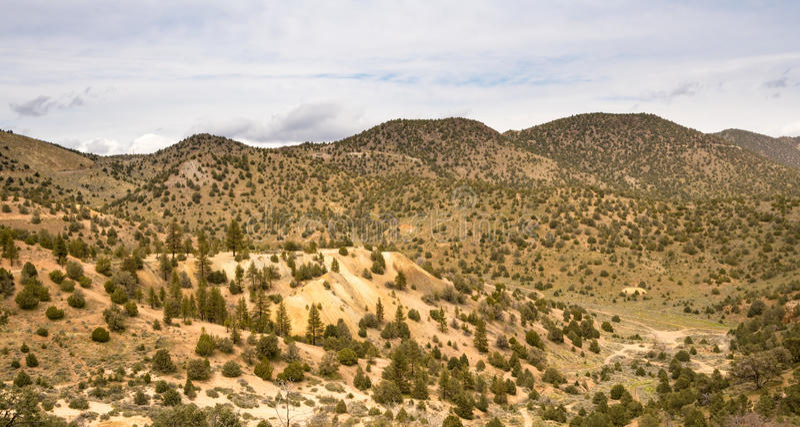 Virginia City nel Nevada era centro di attività dell'argento e dell'oro immagine stock