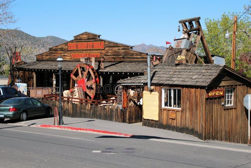 Virginia City, Nevada royalty-vrije stock afbeeldingen